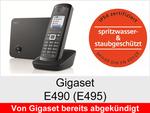 Gigaset E490 + E495: Schnurloses Telefon (Robust)