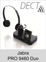Jabra PRO 9460 Duo: Schnurloses DECT-Headset mit Softphone-Unterstützung - ohne Bluetooth-Schnittstelle