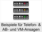 Ansagen für Telefon, Anrufbeantworter und VoiceMail-System