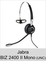 Jabra BIZ 2400 II Mono: Schnurgebundenes Headset für laute Umgebung (UNC 72)