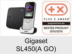 Gigaset SL450 + SL450 A GO: Schnurloses Telefon (Schick)