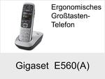 Gigaset E560 + E560A: Schnurloses Telefon (Ergonomisch)
