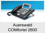 Auerswald COMfortel 2600: Schnurgebundenes ISDN-Systemtelefon mit Headsetanschluss
