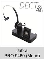 Jabra PRO 9460 (Mono): Schnurloses DECT-Headset mit Softphone-Unterstützung - ohne Bluetooth-Schnittstelle