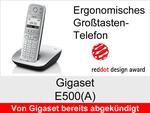 Gigaset E500 + E500A: Schnurloses Telefon (Ergonomisch)