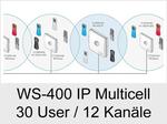 Funktionserweiterungen und Freischaltungen für Anlagen und Telefone: WS-400 IP Multicell/30 User/12 Kanäle