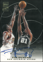 TIM DUNCAN / Topps Certified Autograph Issue - TD  (Rate 1:877)