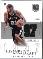 TIM DUNCAN / History of the Draft - No. HD-TD  (#d 17/50)