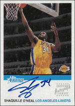 SHAQUILLE O´NEAL / Certified Autograph Issue - No. HA-SO  (Rate 1:90)