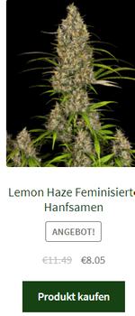 lemon haze feminisierte hanfsamen
