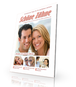 Gratis-Download zu den Themen Bleaching, Veneers und weiße Füllungen. Klicken Sie auf das Foto!