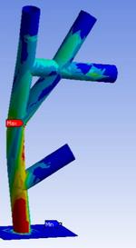 Ausgewählte FE-Analayse - Knoten Karosserie Anbindung A-Säule