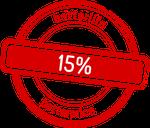 Roter 15% Button betterlife betterprice