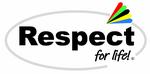 respect-for-life Logo oval mit dem Regenbogen