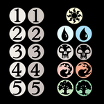 old and new mana symbols compared