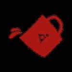 Icon Tee wird verschüttet
