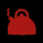 Icon kochende Teekanne