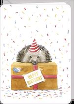 carte double d'anniversaire illustrée par Rosie HILYER