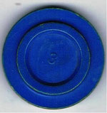 Autoscooter-Chip blau mit Zahl 3 ohne Beschriftung