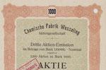 Chemische Fabrik Wesseling AG: 1.000 M  v. 10.02.1920 (Ausschnitt)
