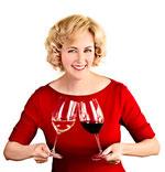 Hier die Dame zwar in Rot, doch es ist ihr offizieller Website-Auftritt