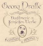 Georg Dralle Parfümerie u. Feinseifenwerke Hamburg