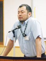 キャリア講話を行った菅原洋介さん=14日夕、八重山商工高校