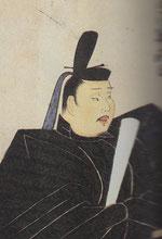 九条兼実画像。「公家列影図」から。前田家旧蔵