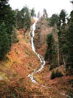 la cascade du gazon vert storckensohn, massif des vosges