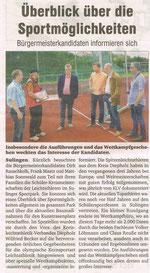 Bürgermeisterkandidat Rauschkolb im Sportpark