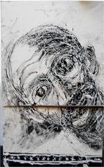 dripping sur papier 46 sur 68 cm 1989