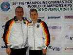 von links: Landestrainer Olaf und Daniel Schmidt