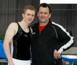 Athleten Daniel Schmidt mit Trainer Olaf Schmidt