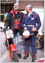 2009 Fulvio Adamoli (Ita) und Wallmann. WM-Teilnehmer der frühen 1980iger.