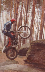 1980 Krankl auf Montesa Cota 349 SSDT beim Training in Heinrichs