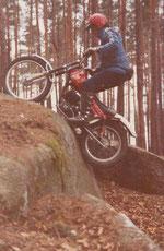 1980: Krankl beim Training im Waldviertel