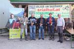 Sonderpreise 2011: vlnr: Alfred, Günter Ruttloff, Walter Gsöll, Ernst Enöckl, Peter Enöckl, Image: www.trials.at