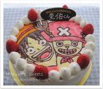チョッパー&ルフィのケーキ