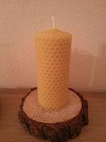 die erste selbstgemachte Kerze