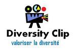 """logo Diversity Clip - caméra colorée avec en base-line """"valoriser la diversité"""""""