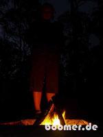 Lagerfeuer-Romantik im Bushcamp