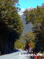 Enge Sträßchen Richtung Milford Sound
