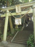 阿夫利神社奥の院鳥居‐ここから結界