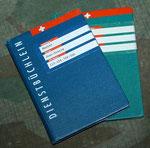 Dienstbüchlein und militärischer Leistungsausweis (Schiessbüchlein)