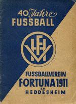 40 Jahre FV Fortuna Heddesheim ( 1951 )