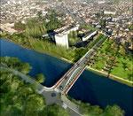 Vue aérienne d'Audincourt