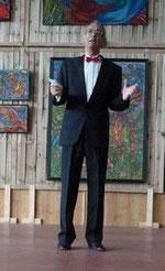 Jean-Luc Bourdilat déclarant ouvert le Grand Baz'Art 2014