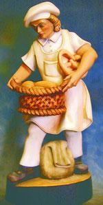 Bild Holzfigur Bäcker Nr. 345 handgeschnitzt