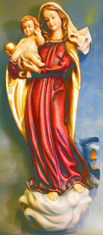 Bild Holzfigur Wand-Madonna Nr. 246 handgeschnitzt