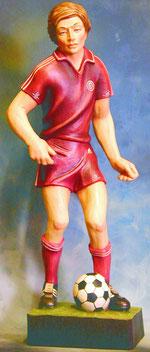 Bild Holzfigur Fußballer Nr. 135 handgeschnitzt